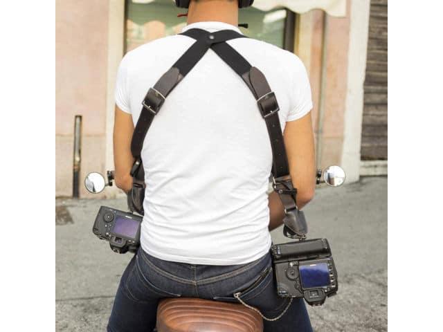 harnais en cuir pour 2 appareils photos