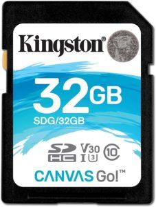 carte mémoire kingston