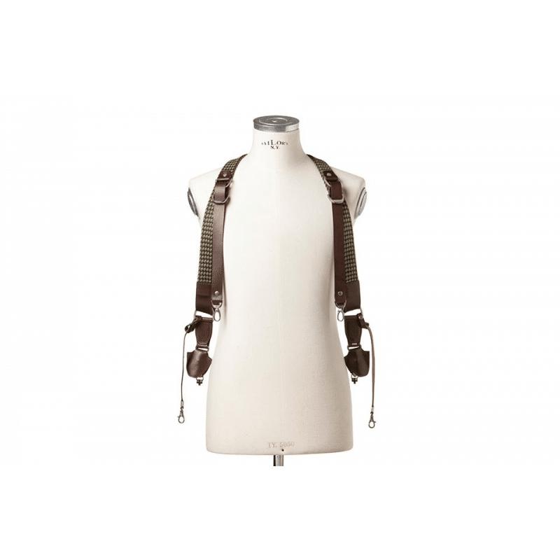 le harnais en cuir pour 2 boitiers photo