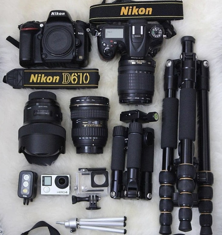 l'équipement de votre photographe